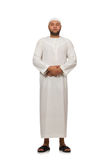 Concept with arab man isolated on white Royalty Free Stock Photo