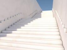 Concept architectural avec des escaliers 3d Image libre de droits