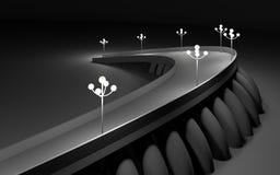 concept architectural de l'illustration 3d de pont Photographie stock libre de droits