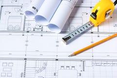 Concept architectural de projet image stock