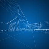 Concept architecture drafting Royalty Free Stock Photos
