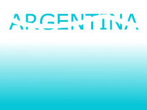 Concept of Argentina Royalty Free Stock Photos