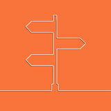 The concept arrow sign of choosing direction the road junction. Creative direction arrow sign. The concept of choosing the direction of the road junction Royalty Free Stock Photos