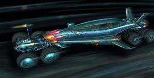 Concept Art Painting de Jet Propelled Car futuriste rapide illustration libre de droits