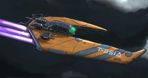 Concept Art Painting de vaisseau spatial illustration libre de droits