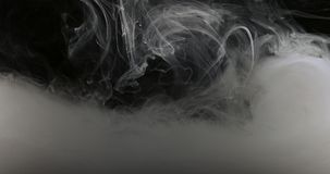Concept Art White Paint In Water As Smoke In Slowmotion Stock Image