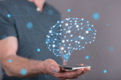 Concept of artificial intelligence Stock Photography