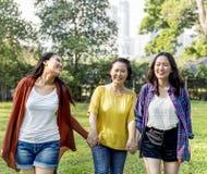 Concept asiatique d'amour de fille de mère de famille Photographie stock libre de droits