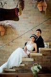 Concept asiatique d'exposition de couples de mariage de l'amour Photos libres de droits