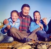 Concept asiatique d'indépendant de plaisir de culture d'appartenance ethnique de famille Photo libre de droits