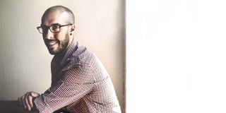 Concept attrayant de vision de Business Confident Smile d'homme d'affaires photographie stock