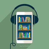 Concept of audio book Stock Image