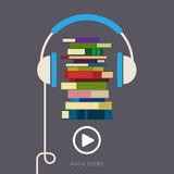 Concept of audio book Royalty Free Stock Photography