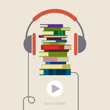 Concept of audio book Stock Images
