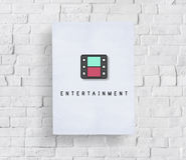 Concept audio de graphique de Podcast de multimédia de divertissement Images stock