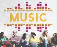 Concept audio de graphique de vague de chanson de musique images stock