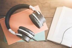 Concept audio de livre Photo stock