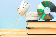 Concept of audiobook Stock Photo