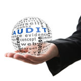 Concept of audit in business Royalty Free Stock Photos