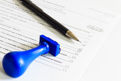 Concept of Audit Check list Stock Photos