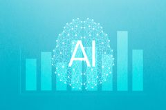 Concept augmented analytics. Business analytics and financial technology concept. AIArtificial Intelligence and smart analytics. Data science learning machine