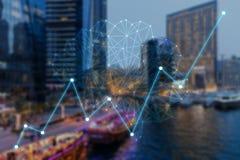 Concept augmented analytics stock illustration