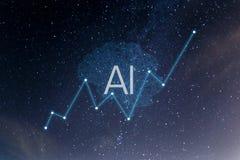 Concept augmented analytics. Business analytics stock illustration