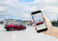 Concept automatique de stationnement photos stock