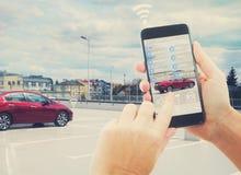 Concept automatique de stationnement photos libres de droits