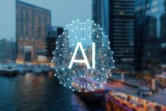 The concept of Autonomous things and smart city royalty free stock photography