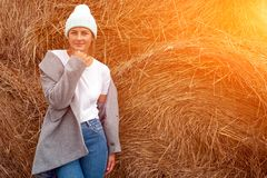 Concept of autumn holidays at village and live style stock image