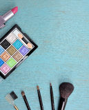 Concept avec des cosmétiques Photographie stock libre de droits