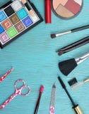 Concept avec des cosmétiques Photo libre de droits