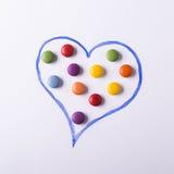 Concept avec des sucreries Images stock