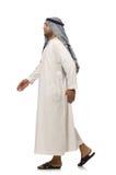 Concept avec l'homme arabe d'isolement Photographie stock libre de droits