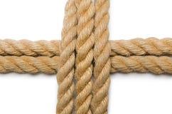 Concept avec la longue corde de chanvre Image libre de droits