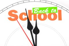 Concept of back to school Stock Images