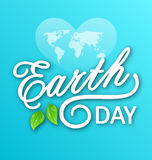 Concept Background for Earth Day Holiday, Lettering Text. Typographic Elements Royalty Free Stock Photography