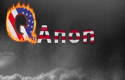 Q Anon deep state conspiracy concept. Concept background illustration for QAnon or Q Anon, a deep state conspiracy theory royalty free stock photos
