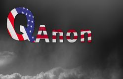 Q Anon deep state conspiracy concept. Concept background illustration for QAnon or Q Anon, a deep state conspiracy theory royalty free stock photography