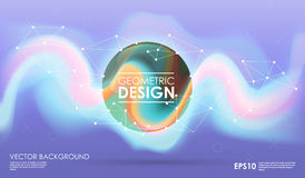 Concept background with poligonal geometric shapes. Creative layout for presentation or website. Royalty Free Stock Photography