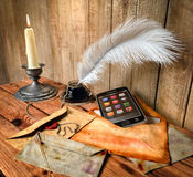 concept background with vintage and modern elements Stock Photography