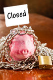 Bank is closed Royalty Free Stock Images