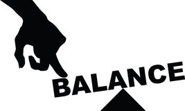 Concept of balance Stock Photography