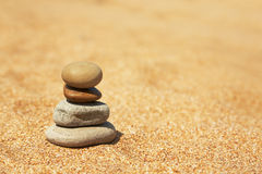 Concept of balance and harmony. Natural background. Summer beach background Royalty Free Stock Photo