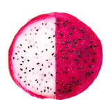 Concept balance of slice red and white dragon fruit, Pitaya or C Royalty Free Stock Photography