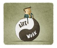 Concept about balance work and life. Life coach give advice about work-life balance Royalty Free Stock Photos