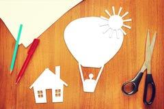 Concept of a balloon flight Stock Photography