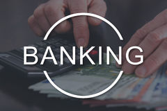 Concept of banking Royalty Free Stock Image