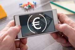 Concept of banking. Banking concept on mobile phone stock images
